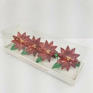 Dept. 56 Poinsettia Napkin Ring and Placecard Hold